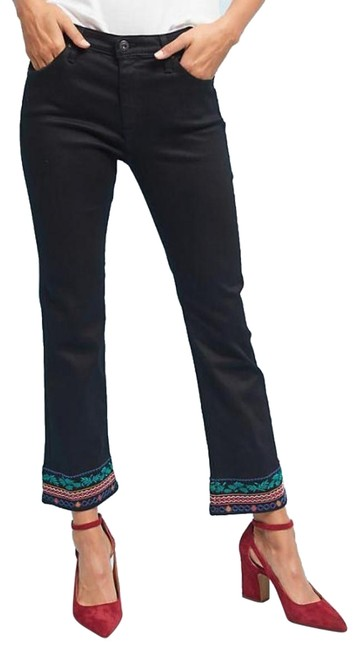 Item - Black Anthropologie The Jodi High-rise Cropped Flare Leg Jeans Size 30 (6, M)