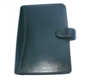 Franklin Covey Vintage Calf Leather Pocket Planner Binder USA