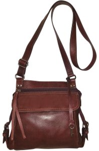 Fossil Refurbished Leather Plum Euc Cross Body Bag