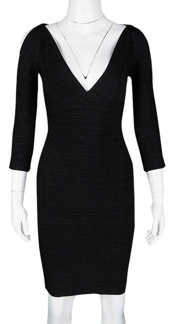 Preload https://item3.tradesy.com/images/herve-leger-black-v-neck-cold-shoulder-kayann-bandage-short-night-out-dress-size-2-xs-23832407-0-1.jpg?width=400&height=650