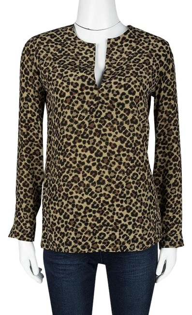 Preload https://item3.tradesy.com/images/saint-laurent-brown-paris-animal-print-long-sleeve-silk-blouse-size-6-s-23832417-0-1.jpg?width=400&height=650