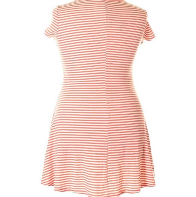 No Comment short dress Coral & White on Tradesy