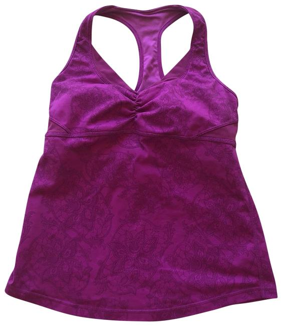 Preload https://img-static.tradesy.com/item/23832464/lululemon-magenta-flowery-strappy-activewear-top-size-4-s-0-1-650-650.jpg