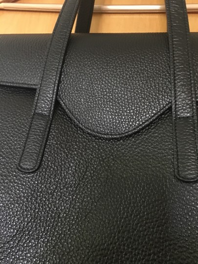 Fabriano Chic Italian Perfect Polished Satchel in black