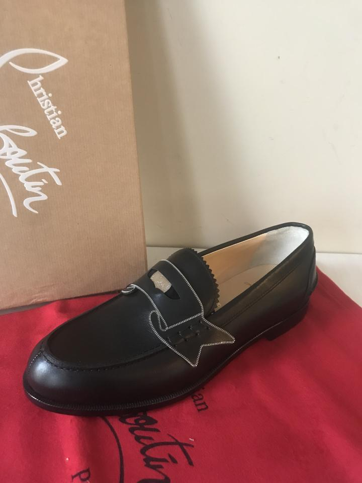 6c4c42d5764 Christian Louboutin Black Monana Leather Penny Loafers Flats Size EU 36  (Approx. US 6) Regular (M, B) 23% off retail
