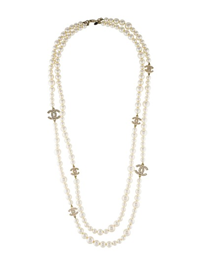 Preload https://item1.tradesy.com/images/chanel-pearl-white-gold-crystal-cc-logo-opera-long-classic-box-necklace-23832495-0-3.jpg?width=440&height=440