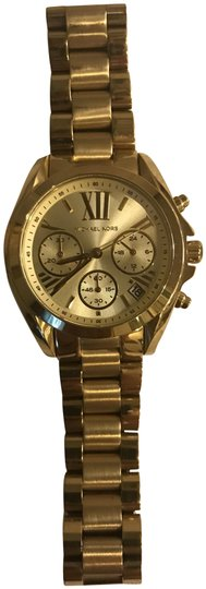 Preload https://item1.tradesy.com/images/michael-kors-gold-mini-bradshaw-chronograph-watch-23832515-0-1.jpg?width=440&height=440