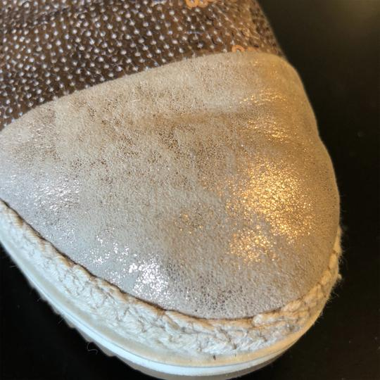Paul Green Sequin Espadrille Loafer Rose God & Cream Flats