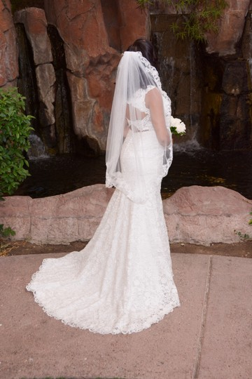 Ivory Lace 7rs301 Vintage Wedding Dress Size 8 (M)
