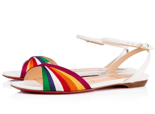 Preload https://item2.tradesy.com/images/christian-louboutin-rainbow-white-orange-yellow-green-blue-naseeba-strap-ankle-strap-pride-flats-a88-23832601-0-0.jpg?width=440&height=440