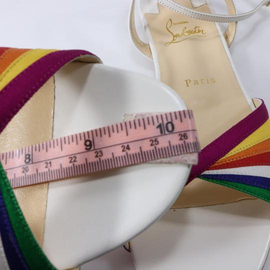 Christian Louboutin Pride Rainbow, White, Orange, Yellow, Green, Blue Sandals