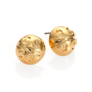 Tory Burch Small Domed Stud Earrings, Gold