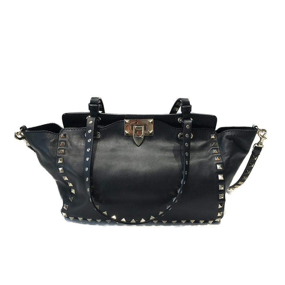 1bd40c26cc3 Valentino Garavani Rockstud Small Tote Black Leather Cross Body Bag