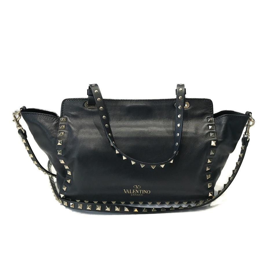 b4b766f80c36 Valentino Garavani Rockstud Small Tote Black Leather Cross Body Bag -  Tradesy