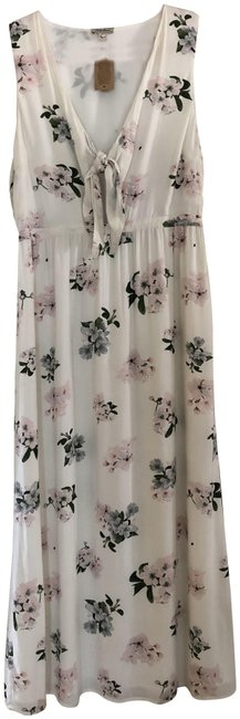 Preload https://item2.tradesy.com/images/off-white-wlavender-pink-and-leaf-colors-designer-adjustable-lined-long-casual-maxi-dress-size-14-l-23832621-0-1.jpg?width=400&height=650