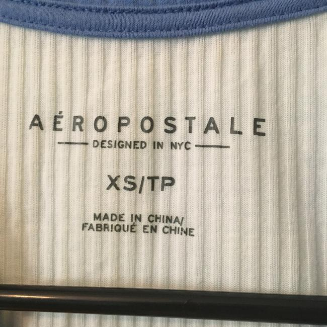 Aéropostale T Shirt White and Blue