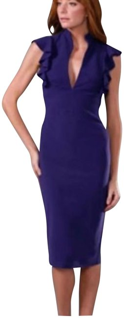 Preload https://item5.tradesy.com/images/black-halo-just-dry-cleaned-purple-ruffle-long-short-casual-dress-size-2-xs-23832739-0-1.jpg?width=400&height=650
