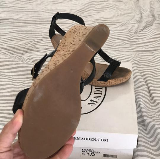 Steve Madden cork wedge & black patent Wedges