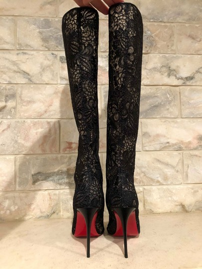 Christian Louboutin Stiletto Classic Lace Tennissina black Boots