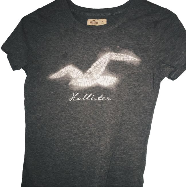 Preload https://item5.tradesy.com/images/hollister-gray-with-white-simple-tee-shirt-size-4-s-23832779-0-1.jpg?width=400&height=650