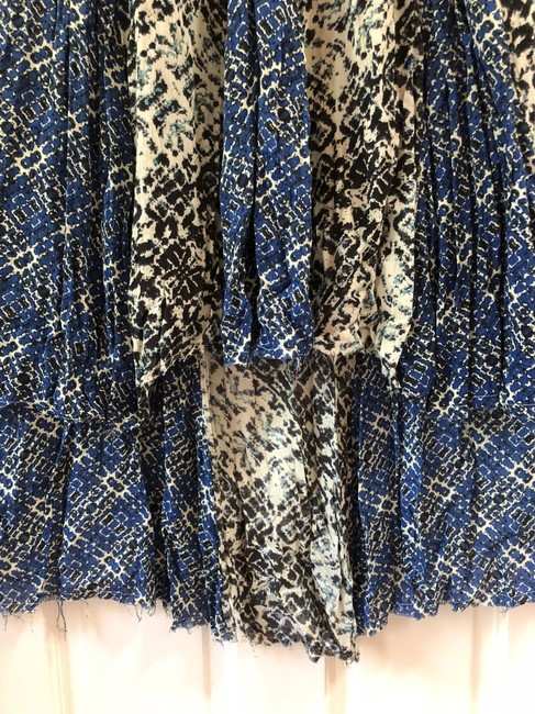 Free People Flare Cotton Maxi Skirt Blue/Beige/Black
