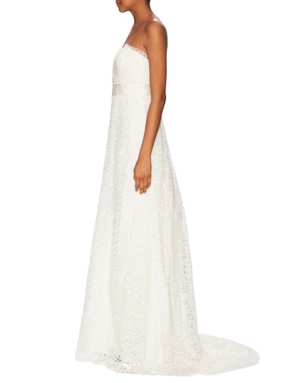 Nicole Miller Bridal Ivory Victoria Formal Wedding Dress Size 8 (M)
