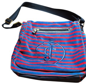 Juicy Couture Messenger bag royal blue and red Messenger Bag