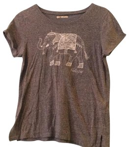 Hollister T Shirt Gray with White Lace