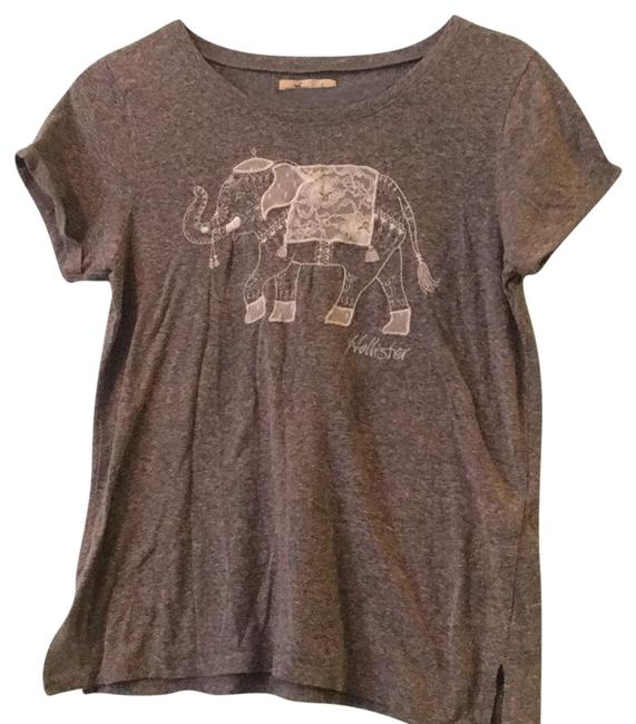 Preload https://img-static.tradesy.com/item/23832813/hollister-gray-with-white-lace-simple-tee-shirt-size-4-s-0-1-650-650.jpg