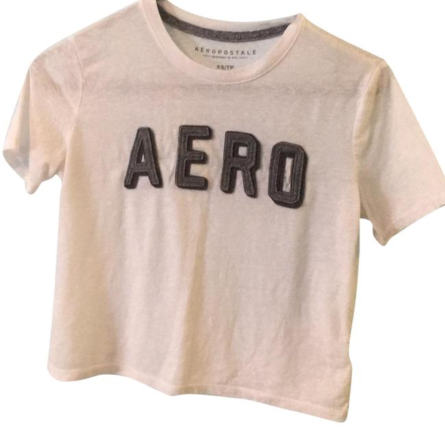 Aéropostale T Shirt White with gray writing