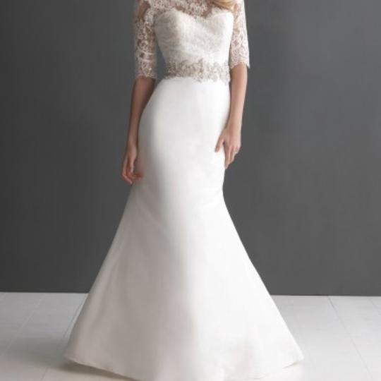 Preload https://item3.tradesy.com/images/allure-bridals-ivory-s-lace-2666-modern-wedding-dress-size-8-m-23832832-0-0.jpg?width=440&height=440
