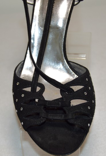 Dolce&Gabbana Swarovski Crystals On Siver Made In Italy Black Sandals