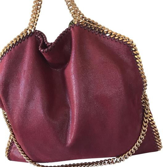 Preload https://item1.tradesy.com/images/stella-mccartney-falabella-fold-over-ruby-tote-23832870-0-1.jpg?width=440&height=440