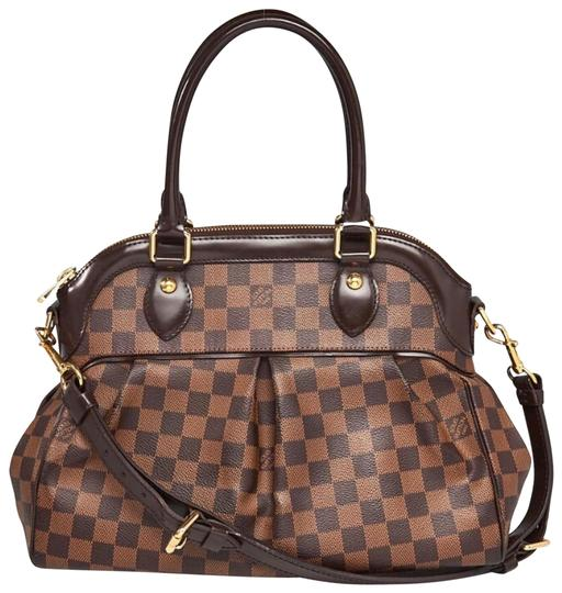 Preload https://item5.tradesy.com/images/louis-vuitton-trevi-pm-brown-damier-canvas-and-leather-satchel-23832874-0-1.jpg?width=440&height=440