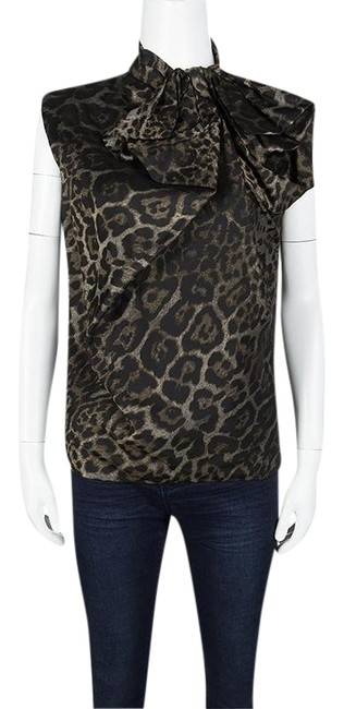 Preload https://item5.tradesy.com/images/lanvin-brown-hiver-13-animal-pattern-jacquard-bow-detail-sleeveless-s-blouse-size-6-s-23832899-0-1.jpg?width=400&height=650