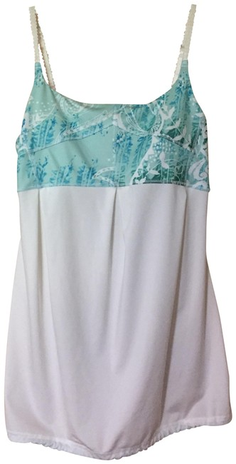 Preload https://img-static.tradesy.com/item/23832909/lole-white-with-teal-design-tank-topcami-size-8-m-0-1-650-650.jpg