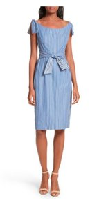 MILLY short dress Blue and White Stripes new with tags on Tradesy