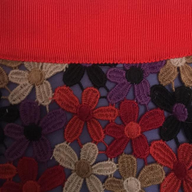 Kate Spade Skirt Red, purple, beige, tan, black