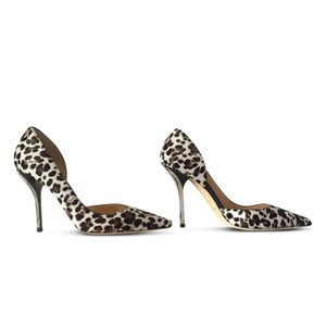 Jimmy Choo Brown & Ivory Pumps