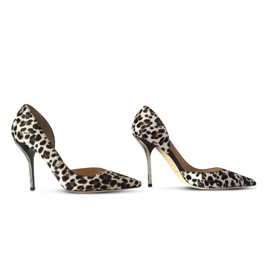 d0f5db7948b3 Jimmy Choo Brown   Ivory Willis Leopard Print Calf Hair Pumps Size ...