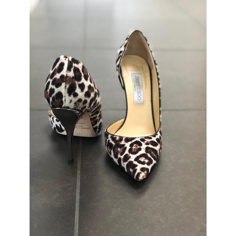 0ea642b77c53 Jimmy Choo Brown   Ivory Willis Leopard Print Calf Hair Pumps Size EU 41  (Approx. US 11) Regular (M