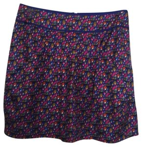 See by Chloé Mini Skirt Royal blue with pink, khaki, orange, white, teal, turquoise and green