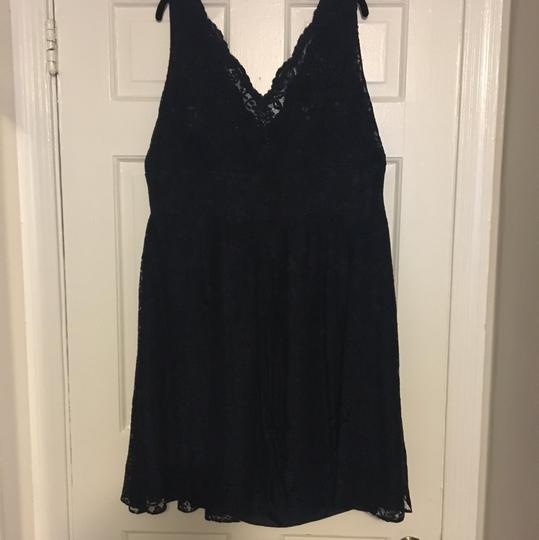Jasmine Bridal Navy Chantilly Lace B2 Traditional Bridesmaid/Mob Dress Size 24 (Plus 2x)
