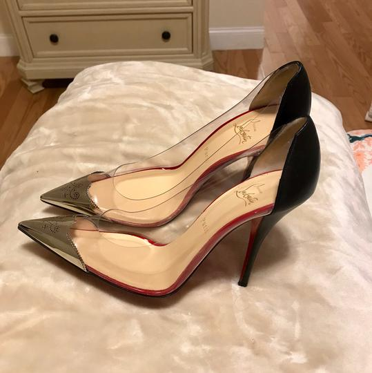 Christian Louboutin Black and silver Pumps