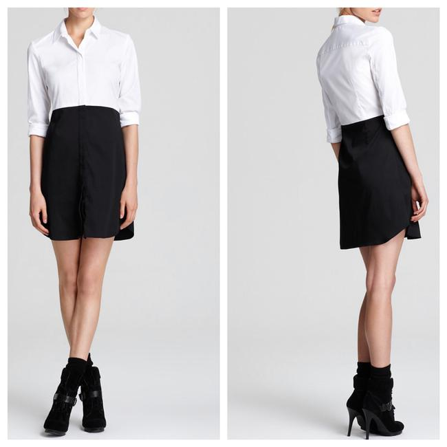 Preload https://item1.tradesy.com/images/theory-inkwhite-tablima-luxe-shirtdress-short-casual-dress-size-8-m-23833070-0-0.jpg?width=400&height=650