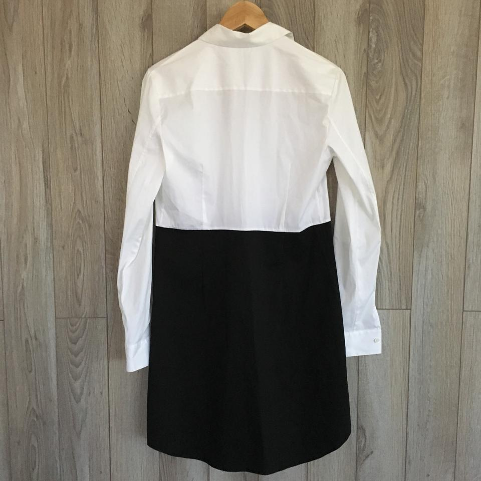 White Luxe Dress Short Ink Theory Casual Tablima Shirtdress wCqUx5t
