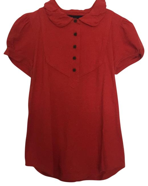 Preload https://item3.tradesy.com/images/marc-by-marc-jacobs-red-with-barely-visible-flecks-of-yellow-khaki-white-blue-tee-shirt-size-6-s-23833077-0-1.jpg?width=400&height=650