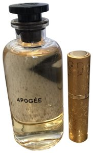 Louis Vuitton ' APOGEE ' in Gold Refillable Glass Travel Spray Atomizer 10ml