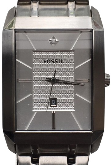 Preload https://item1.tradesy.com/images/fossil-stainless-steel-men-s-w-silver-dial-rectangular-case-fs-4476-watch-23833105-0-1.jpg?width=440&height=440