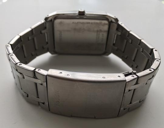 Fossil Men's Fossil Stainless Steel w/ Silver Dial Rectangular Case (FS-4476)